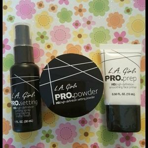 Face Primer, Setting Spray and Loose Powder